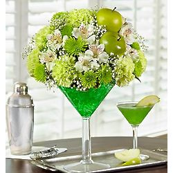 Green Dublin Apple Cocktail Floral Arrangement