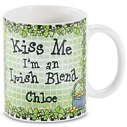 Personalized Kiss Me I'm an Irish Blend Mug