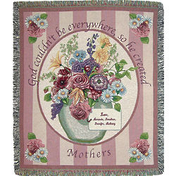 Personalized Mother Card Throw