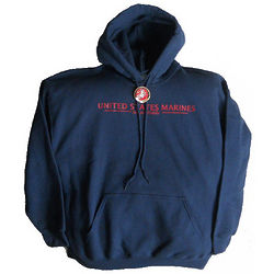 Marines Blue Hooded Sweatshirt