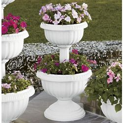 Two-Tier Urn Planter