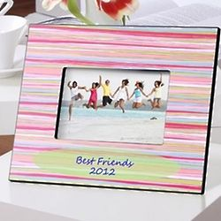 Personalized Watercolor Stripes Frame