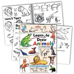 Learn to Draw Animals Paperback Book