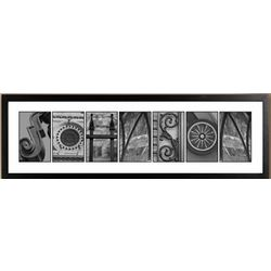 Framed Black and White Architectural Photo Print