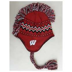 Youth Wisconsin Badgers Mohawk Knit Hat