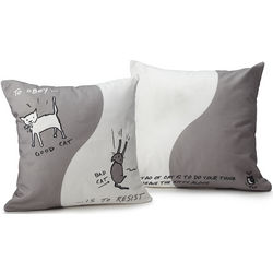 Cat Tao Throw Pillow