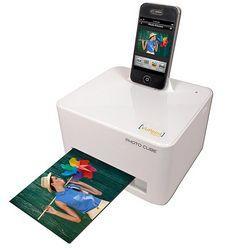 White Portable Photo Cube Photo Printer