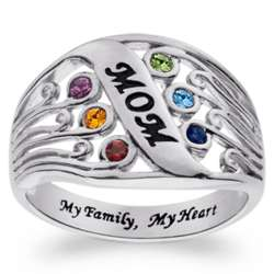 Sterling Silver Mother's Family Birthstone Ring