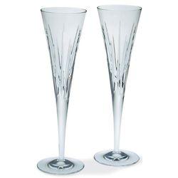 2 Soho Crystal Champagne Flutes