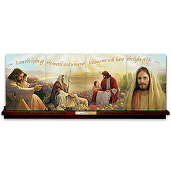 The Light of Life Jesus Christ Collector's Plate