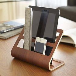 Plywood Remote Control & Tablet Organizer