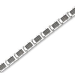 Suave Extra Wide Men's Stainless Steel Bracelet