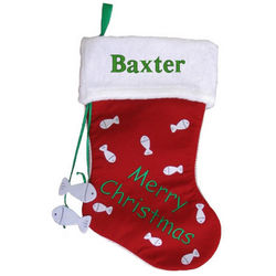 Merry Christmas Personalized Cat Stocking