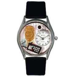 Personalized Police Officer Silver Watch