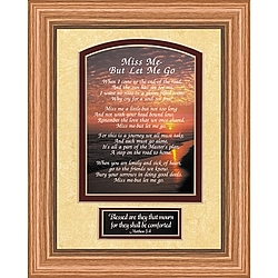 """Miss Me But Let Me Go"" Sunset Print in Oak Frame"