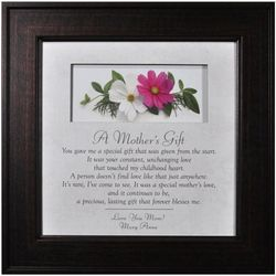 A Mother's Gift Framed Poem