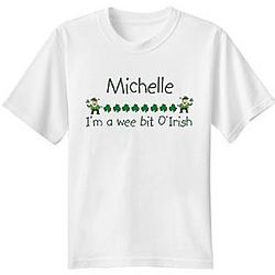 Personalized Wee Bit o' Irish Youth T-Shirt
