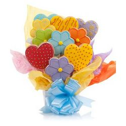 Daisies and Hearts Cookie Bouquet