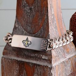 Personalized New Orleans Saints Chunky Chain Bracelet