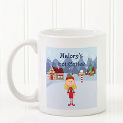Family Holiday Character Personalized Small Mug and Hot Cocoa
