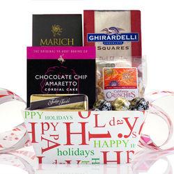 Happy Holidays Snacks Gift Tray