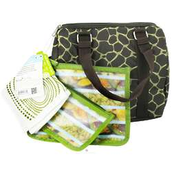 Giraffe Print Insulated Lunch Duffel with Reusable Sacks