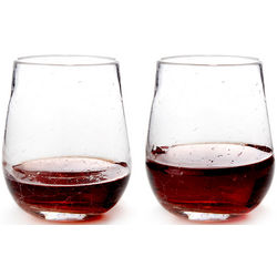 Crackle Wine Glasses