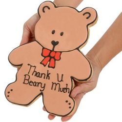 Giant Thank You Beary Much Sugar Cookie