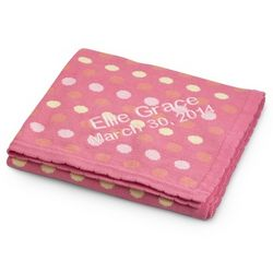 Raspberry Polka Dot Blanket