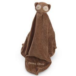 Stuffed Brown Owl Blanket