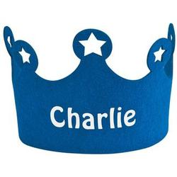 Personalized Blue Birthday Crown