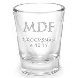 Wedding Favor Shot Glass with Personalized Etching