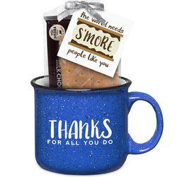 Thanks for All You Do Campfire Mug and S'Mores