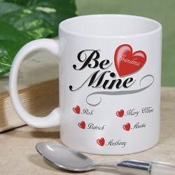 Be Mine Hearts Coffee Mug