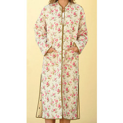 Reversible Rose-Print Robe