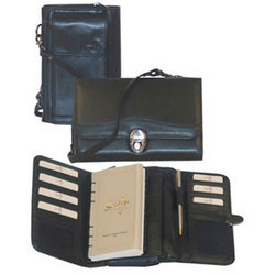 Leather Weekly Organizer with Strap