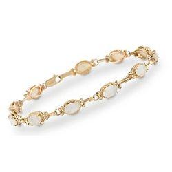 Opal Bracelet In 14kt Yellow Gold