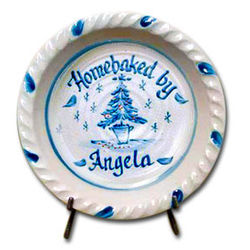 Holiday Personalized Pie Plate