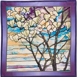 Tiffany Magnolias and Irises Neckerchief