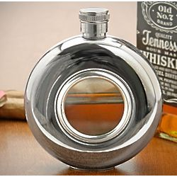 Whiskey Window Hip Flask
