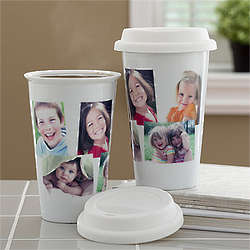 Personalized Photo Collage Travel Tumbler