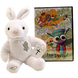 Easter Bunny and DVD Gift Bag