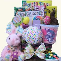 Girls Hoppin' Easter Fun Easter Gift Basket