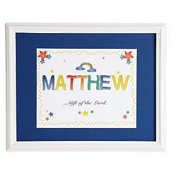 Personalized Name Meaning Print in Bright Blue