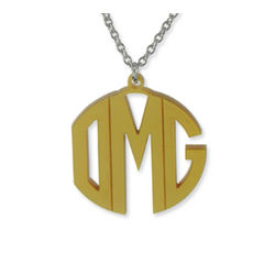 Personalized Color Monogram Necklace