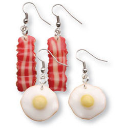 Bacon Dangle Earrings
