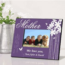 Bloomin Butterfly Personalized Mother Picture Frame