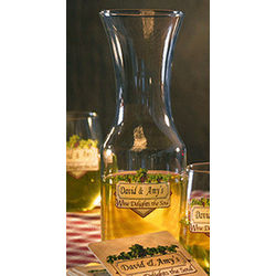 Personalized Wine Delights the Soul Carafe