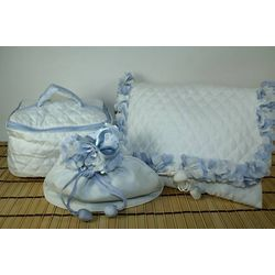 Blue Silk Bag Set