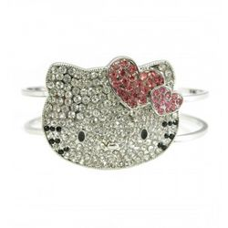 Kitty Crystal Bangle Bracelet